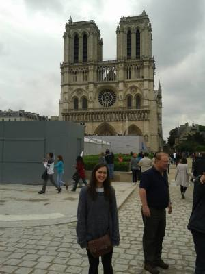 Jess outside Notre Dame.